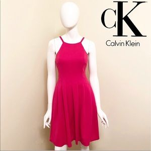 LIKE NEW - Calvin Klein - Pink Fit & Flare Dress
